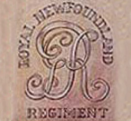 Royal Newfoundland Regiment Crossbelt Plate